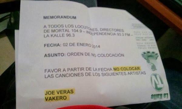 1111111111111111 Mira como bloquean artistas en medios dominicanos