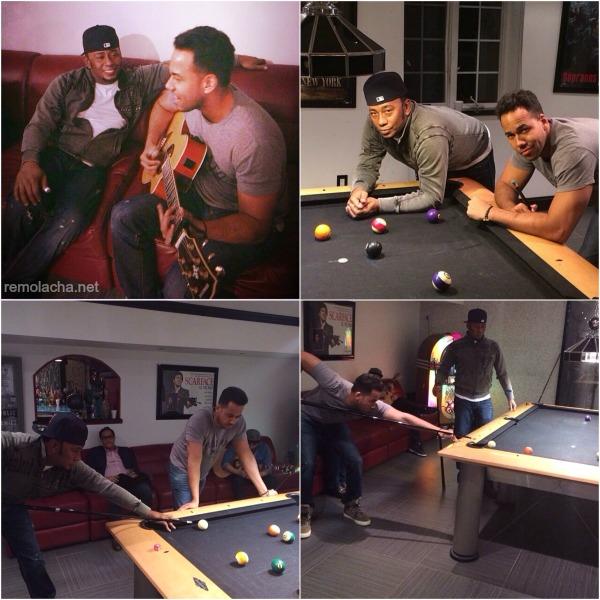 mayimbes El Bachatu y Romeo Santos jugando billar [FOTOS]