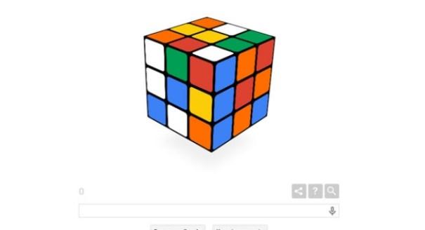 311 Con un doodle, Google celebra 40 años del cubo de rubik [Juego]