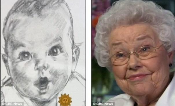 image1 Conozca la chamaquita de las compotas Gerber, hoy con 87 años