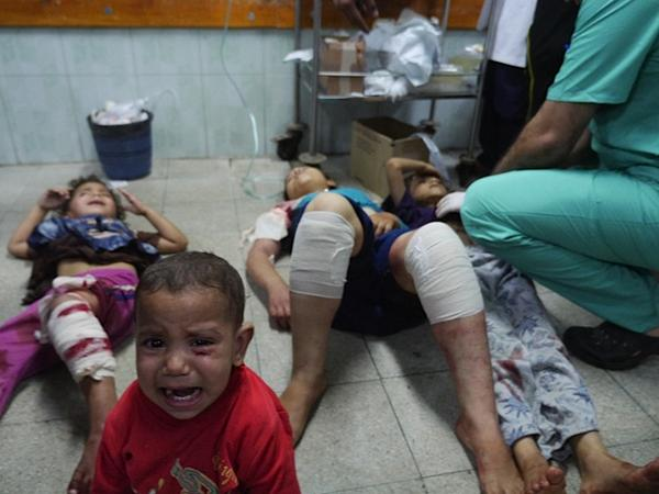 Gaza. Imagen por el fotoreportero Sean Swan,  @Irishcamera