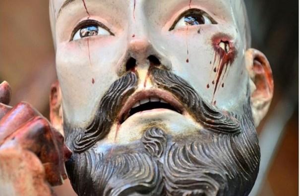 11 Hallan dientes reales en una escultura de Cristo del siglo XVIII