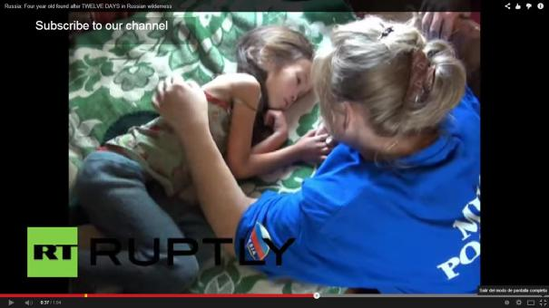 52 Hallan con ayuda de un drone una niña que tenía 12 días perdida [Video]