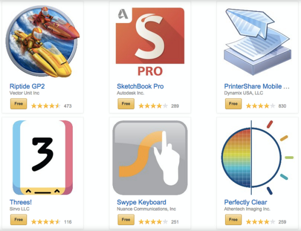 amazon Amazon regalando un tro' aplicaciones pa' Android