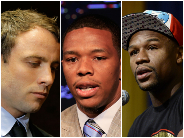 (Foto: Oscar Pistorius, Ray Rice y Floyd Mayweather / Getty Images North America)