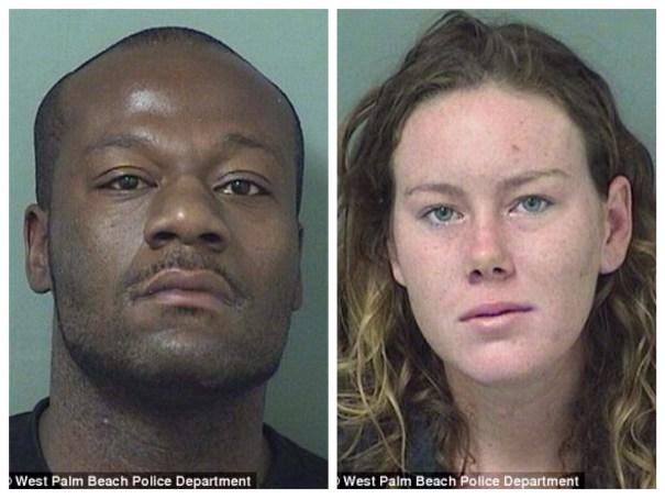 img 4476 Arrestan pareja por dar etilla encima de un carro en un dealer