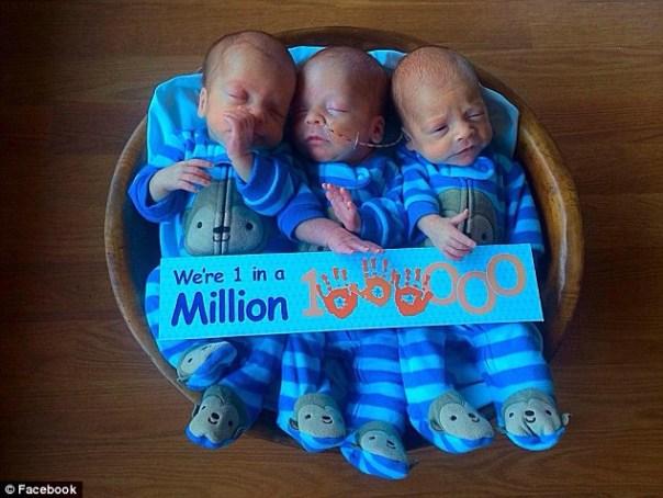 img 4566 Fotos  Nacen trillizos idénticos en EEUU