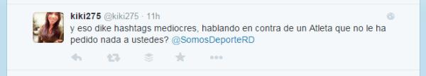 kiki Tweet de CUENTA FALSA del  Ministerio de Deportes de la RD causa polémica