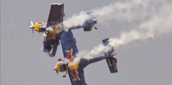 avionesss Video: Chocan aviones en show aéreo