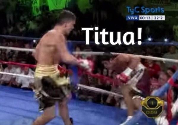 titua El verdadero nocaut: Lo sacó del ring