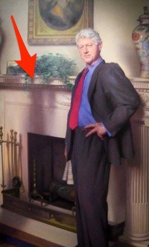 image17 Retrato de Clinton hace alusión a Mónica Lewinsky