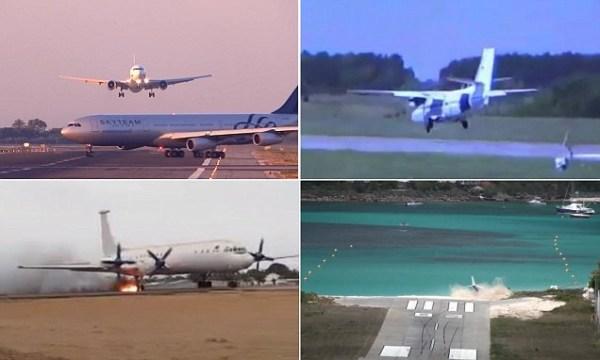 image592 Video   Los espantosos aterrizajes y despegues jamás antes visto
