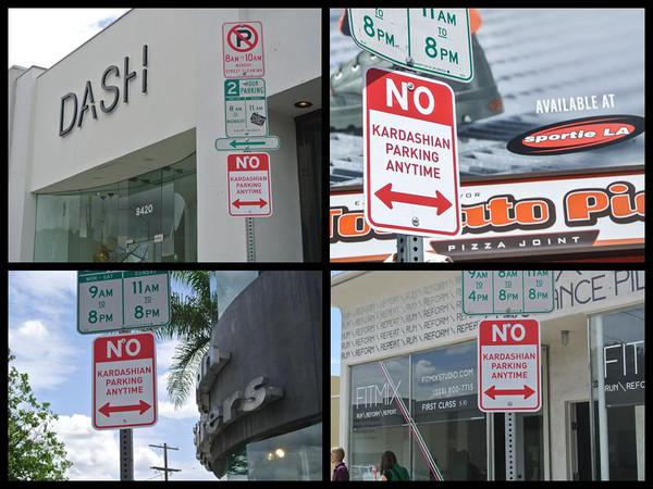 Foto: El rechazo a las Kardashian en las calles de Hollywood