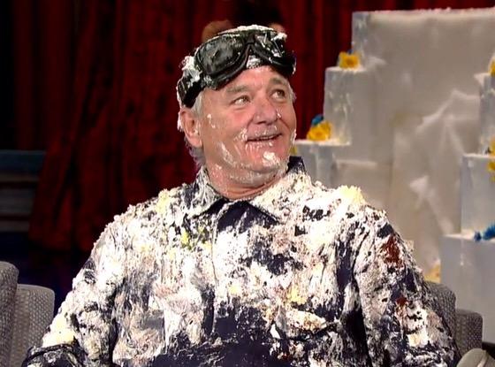 img 8758 Video   Bill Murray sale de un pastel para despedir a David Letterman
