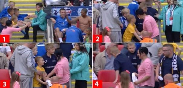 img 9010 Video   Mujer arrebata camiseta de jugador de fútbol a carajitos