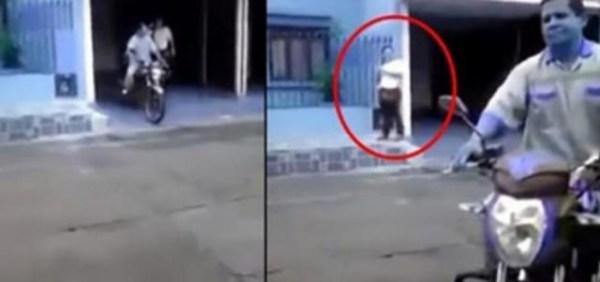 image33 Video   Atrapó a su marido y a la amante saliendo de un motel