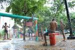 Parque La Cienaga bajo el aguacero