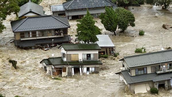 tormenta japon Inundaciones acabando con to en Japón