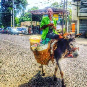 La doña se busca el moro vendiendo maíz pelao' y guanimo