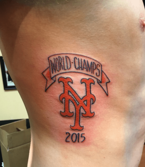 tatu Tatuaje de fan de los Mets