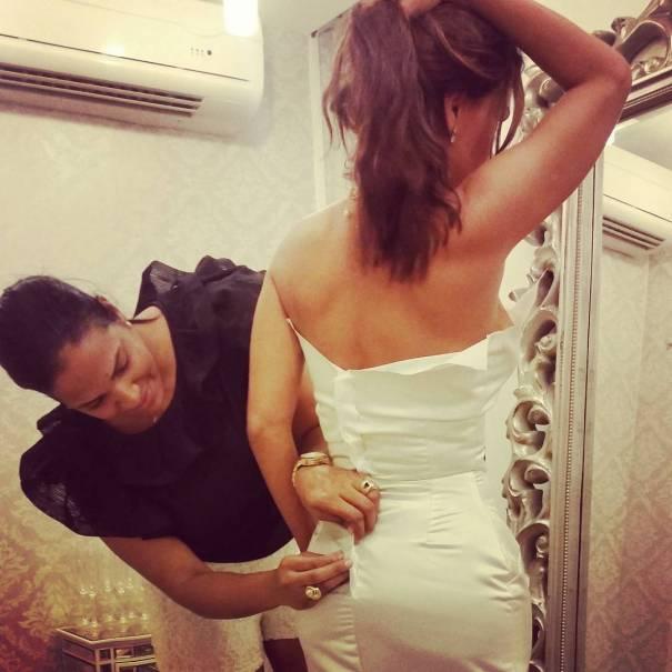 georgina duluc FOTO – Georgina Duluc con vestido de novia