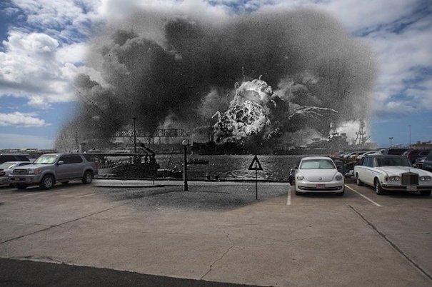pearl harbor Imágenes comparativas del ataque a Pearl Harbor