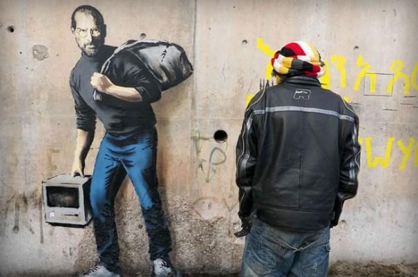 steve jobs FOTO – Steve Jobs como refugiado sirio