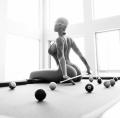 ab Sexy fotos de Amber Rose encima de mesa de billar