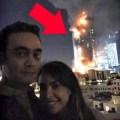 idiotas Tan pasao! Selfies del incendio de Dubai