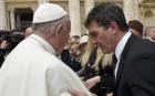 Antonio Banderas y el papa Francisco