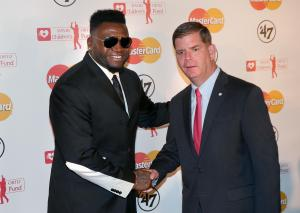 Big Papi y Marty Walsh