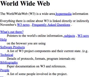 www Internet cumple 25 años