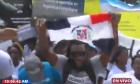 haitianos Manifestación frente al Tribunal Constitucional