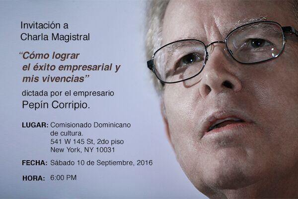 img 20160908 wa0011 Pepín Corripio ofrecerá conferencia en New York