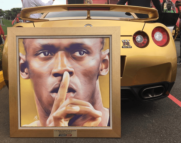 usain bolt Fotos   El maquinón de oro de Usain Bolt