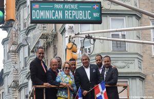 dominican republic way La inauguración de avenida Dominican Republic Way