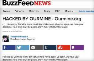 Buzzfeed, hackeado