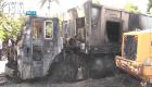 rd13 Incendian camiones del ayuntamiento en Moca