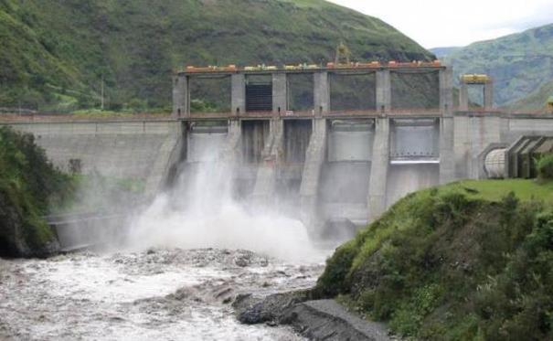 Desagüe de presa Tavera