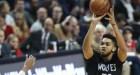 karl towns Karl Towns dando 'pau pau' en la NBA