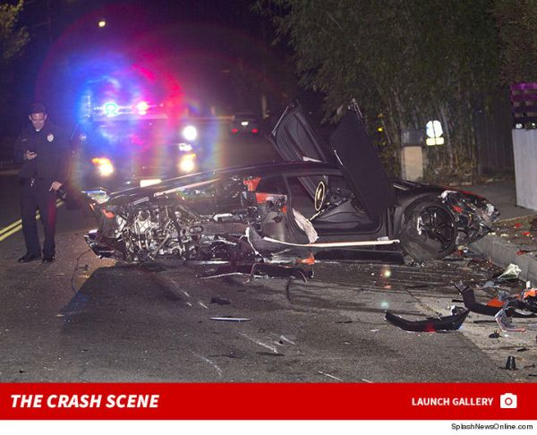 chris brown El Lamborghini de Chris Brown ta debaratao