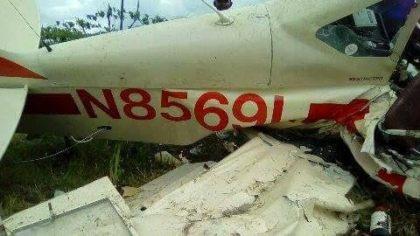 av2 Fotos y video   La avioneta que se estrelló en Villa Tapia