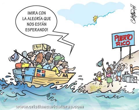 caricatura yoleros Caricatura – ¡Y ellos locos por irse!