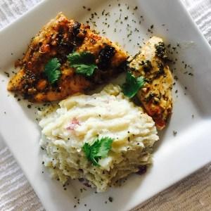 comida9 Comida de las 12: Filete de pescado y puré de papas