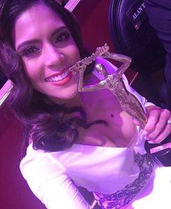 francisca Wepa! Francisca Lachapel celebra su primer Premio TVyNovelas