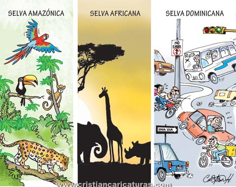 "selvas Caricatura – ""Las selvas más peligrosas..."""