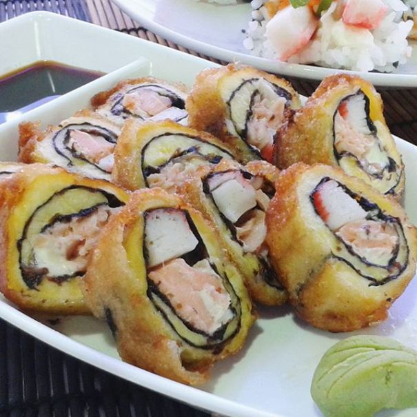 sushi 7 platos deliciosos y full de #PlatanoPower