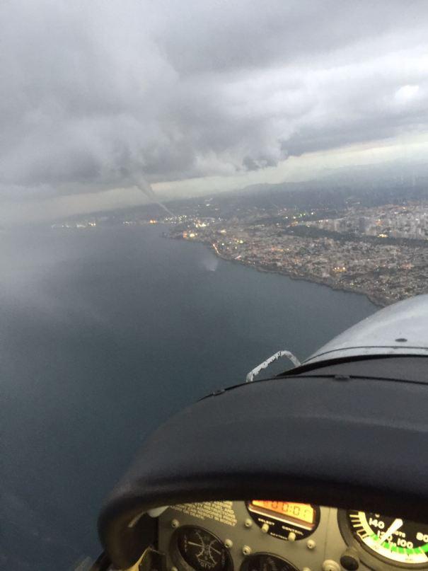 Más fotos de la espectacular tromba marina en Santo Domingo