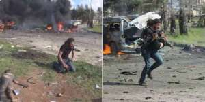 fotosiria Fotógrafo rescata niños en Alepo
