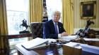 trump9 El botón rojo del escritorio de Trump